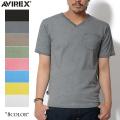 AVIREX アビレックス デイリーウェア 6143406 S/S Vネック ポケットTシャツ8色