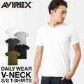 【ネコポス便対応】AVIREX アビレックス デイリーウエア 半袖 VネックTシャツ 【6143501】