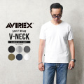 【送料無料】AVIREX アビレックス デイリーウエア 半袖 VネックTシャツ 6143501 メンズ ミリタリー トップス インナー 無地 筋肉 アヴィレックス【Sx】
