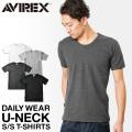【ネコポス便対応】AVIREX アビレックス デイリーウエア 半袖 UネックTシャツ 【6143506】 アヴィレックス【Sx】
