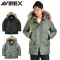 【10月中旬入荷予定】AVIREX アビレックス 6152145 N-3B フライトジャケット COMMERCIAL リアルファー アヴィレックス