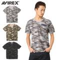 AVIREX アビレックス  6153347 FATIGUE VネックTシャツ CAMO ミリタリー アヴィレックス【キャンペーン対象外】