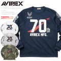AVIREX アビレックス 6173438 U.S.A.F. 70th ANNIVERSARY THERMOLITE Tシャツ NUMBERING