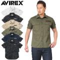 AVIREX アビレックス 6175093 S/S FATIGUE カーキ シャツ アヴィレックス【キャンペーン対象外】
