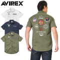 AVIREX アビレックス 6175103 S/S C.A.P. PATCHED ミリタリー シャツ