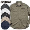 AVIREX アビレックス 6175140 L/S FATIGUE KHAKI シャツ