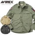 AVIREX アビレックス 6175146 NAVAL PATCH ミリタリーシャツ