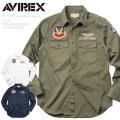 AVIREX アビレックス 6175148 U.S.A.F. 70th ANNIVERSARY L/S カーキシャツ【数量限定!対象商品を20,000円(税込)以上ご購入でランドリーバッグプレゼント】