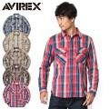 AVIREX アビレックス 6175151 デイリーウエア L/S コットン フランネルワークシャツ