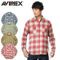 AVIREX アビレックス 6175152 デイリーウエア L/S コットン ビエラワークシャツ