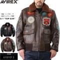 ☆ただいま15%OFF☆AVIREX アビレックス TOP GUN G-1 レザーフライトジャケット 2色【6181013】 アヴィレックス