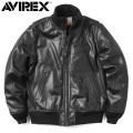 AVIREX アビレックス 6181047 カウレザー タンカースジャケット ミリタリージャケット【キャンペーン対象外】