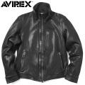 AVIREX アビレックス 6181056 SHEEP SKIN スタンドジップ トラッカージャケット 革ジャン レザージャケット【キャンペーン対象外】