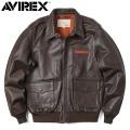 AVIREX アビレックス 6181061 A-2 レザーフライトジャケット PLAIN ミリタリージャケット 革ジャン【キャンペーン対象外】