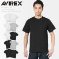 AVIREX アビレックス 6183380 デイリーウエア 半袖 クルーネック パックTシャツ 2PIECE アヴィレックス【Sx】