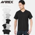 AVIREX アビレックス 6183381 デイリーウエア 半袖 Vネック パックTシャツ 2PIECE アヴィレックス【Sx】