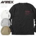 AVIREX アビレックス 6183496 L/S ミニワッフル VネックTシャツ【キャンペーン対象外】