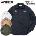 ☆送料無料☆AVIREX アビレックス STREET GEAR / FIELD 6185139 L/S ストレッチツイル パッチドシャツ