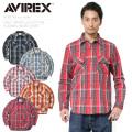 AVIREX アビレックス 6185142 デイリーウエア L/S コットンフランネル ワークシャツ【Sx】