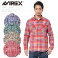 AVIREX アビレックス 6185143 デイリーウエア L/S コットンビエラ ワークシャツ【Sx】