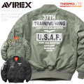 AVIREX アビレックス 6192216 MA-1フライトジャケット CUSTOM GRAPHIC USAF【キャンペーン対象外】