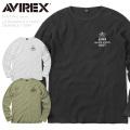 """AVIREX アビレックス 6193318 L/S ビッグ ワッフル クルーネック Tシャツ""""U.S.NAVY""""【キャンペーン対象外】 ミリタリー アヴィレックス  長袖"""