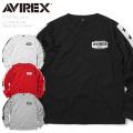 AVIREX アビレックス 6193319 L/S STAR&LINE クルーネックTシャツ【キャンペーン対象外】 ミリタリー アヴィレックス 長袖