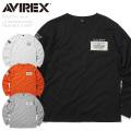 AVIREX アビレックス 6193320 L/S WAPPEN STENCIL クルーネックTシャツ【キャンペーン対象外】 ミリタリー アヴィレックス 長袖