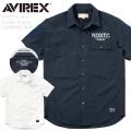 AVIREX アビレックス 6195121 S/S ドライストレッチ コマンドシャツ【キャンペーン対象外】 半袖