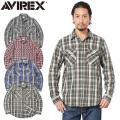 【即日出荷対応】AVIREX アビレックス 6195127 デイリーウエア L/S コットン フランネル チェックシャツ【キャンペーン対象外】