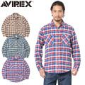 AVIREX アビレックス 6195128 デイリーウエア L/S コットン ビエラ チェックシャツ【キャンペーン対象外】