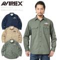AVIREX アビレックス 6195137 EMBROIDERYシャツ / カーキシャツ HALO(High Altitude Low Opening)【キャンペーン対象外】 ミリタリーファッション