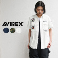 ★スプリングセール★AVIREX アビレックス 6205018 レディース サブマリン パッチド ミリタリーシャツ ミリタリーファッション