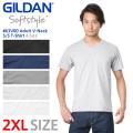 【メーカー取次】 GILDAN ギルダン 63V00 4.5oz アダルト Vネック 半袖Tシャツ Japan Fit【Sx】