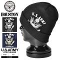 HOUSTON ヒューストン 6637 U.S.ARMY プリント ビーニー 2色