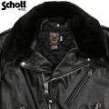 Schott ショット 618M COLLAR FOR ブラック【7066】【キャンペーン対象外】
