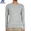RUSSELL ラッセル CLASSIC ワイドクルーネック L/S Tシャツ グレー