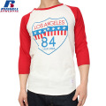 RUSSELL ラッセル PRINT 3/4スリーブ ベースボール Tシャツ 09