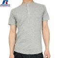 RUSSELL ラッセル CLASSIC ワッフル ヘンリーネック H/S Tシャツ グレー