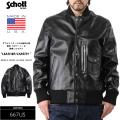 ☆ただいま15%OFF☆Schott ショット 667US オールレザー VARSITYジャケット BLACK