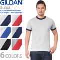 GILDAN ギルダン 76600 Premium Cotton 5.3oz S/S アダルト リンガー Tシャツ Japan Fit【Sx】