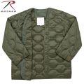☆ただいま15%割引中☆ROTHCO ロスコ 8292 M-65フィールドジャケット用 キルティングライナー OLIVE