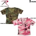 ☆まとめ割☆ROTHCO ロスコ レディース 迷彩半袖Vネックショート丈Tシャツ2色