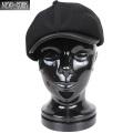 ☆今だけ20%OFF☆New York Hat ニューヨークハット 9008 Leather Visor Gatsby キャスケット ブラック