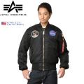 ☆スプリングセール☆【即日出荷対応】ALPHA アルファ USA 日本未発売 NASA APOLLO MA-1 フライトジャケット【21018】 アルファ インダストリーズ