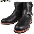 ☆ただいま15%OFF☆AVIREX アビレックス AV2225 HORNET ショートエンジニアブーツ ブラック アヴィレックス