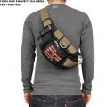 ☆まとめ割☆FLYING BODY PARACHUTE BAG SERIES FB-11 パラシュート ウエストバッグ ブラック