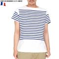 ☆20%OFF割引中☆【ネコポス便対応】新品 フランス軍ボーダー 半袖Tシャツ WHITE/BLUE