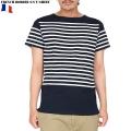 ☆20%OFF割引中☆新品 フランス軍ボーダー 半袖Tシャツ NAVY/WHITE