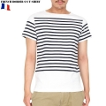 ☆20%OFF割引中☆【ネコポス便対応】新品 フランス軍ボーダー 半袖Tシャツ WHITE/NAVY